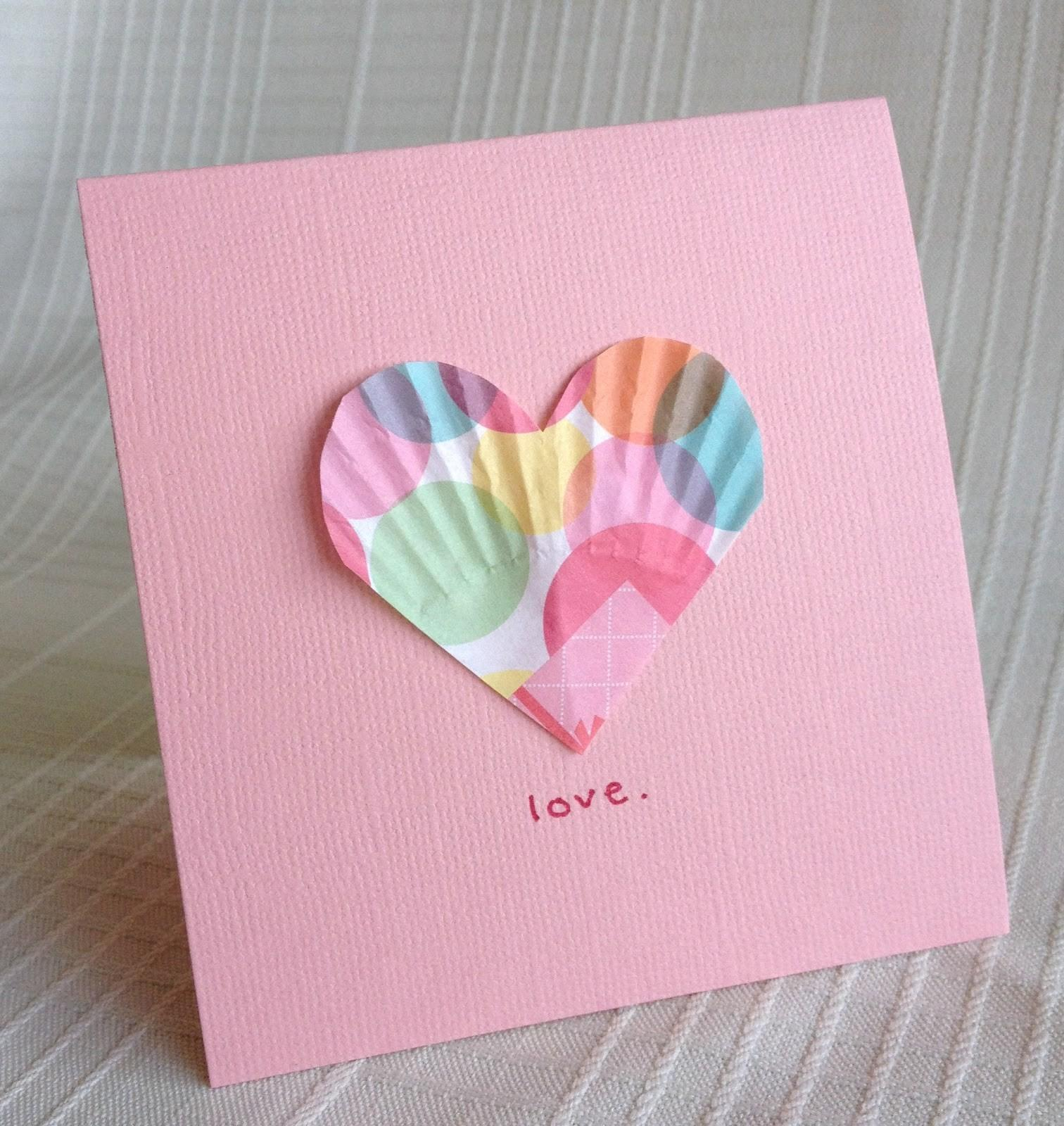 Brave Keep Going Easy Valentines Craft Paper Liner Hearts
