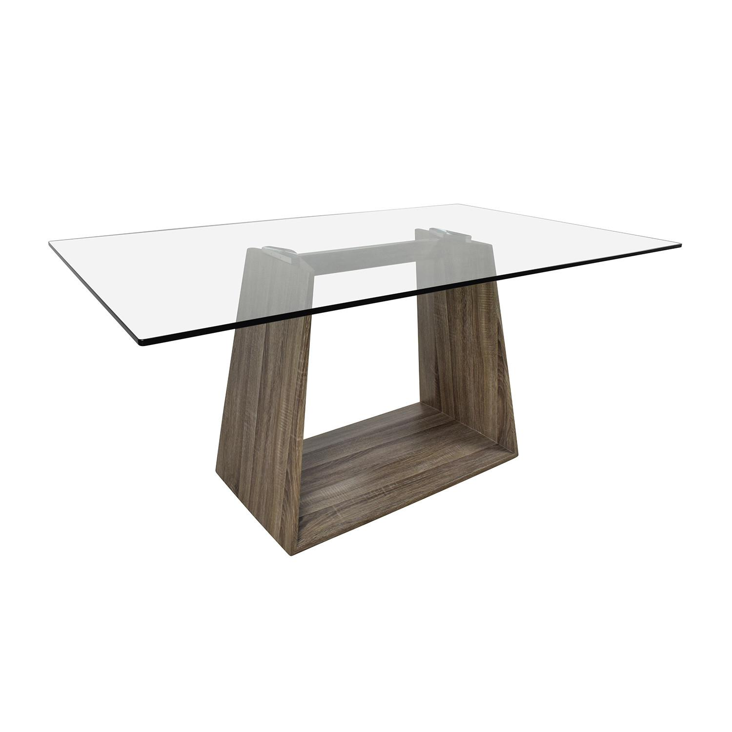 Bravo Contemporary Glass Top Dining Table