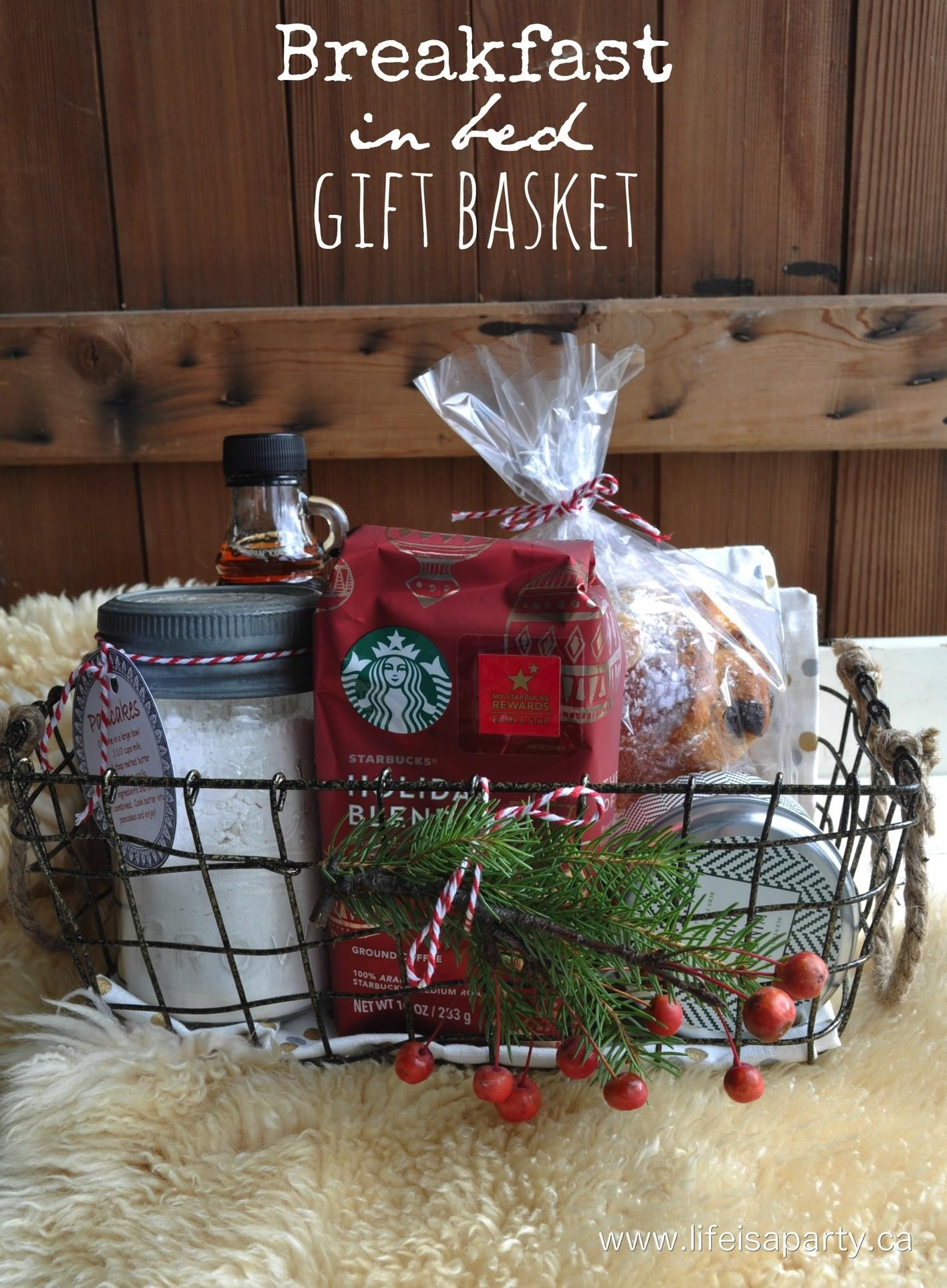 Breakfast Bed Gift Basket Life Party
