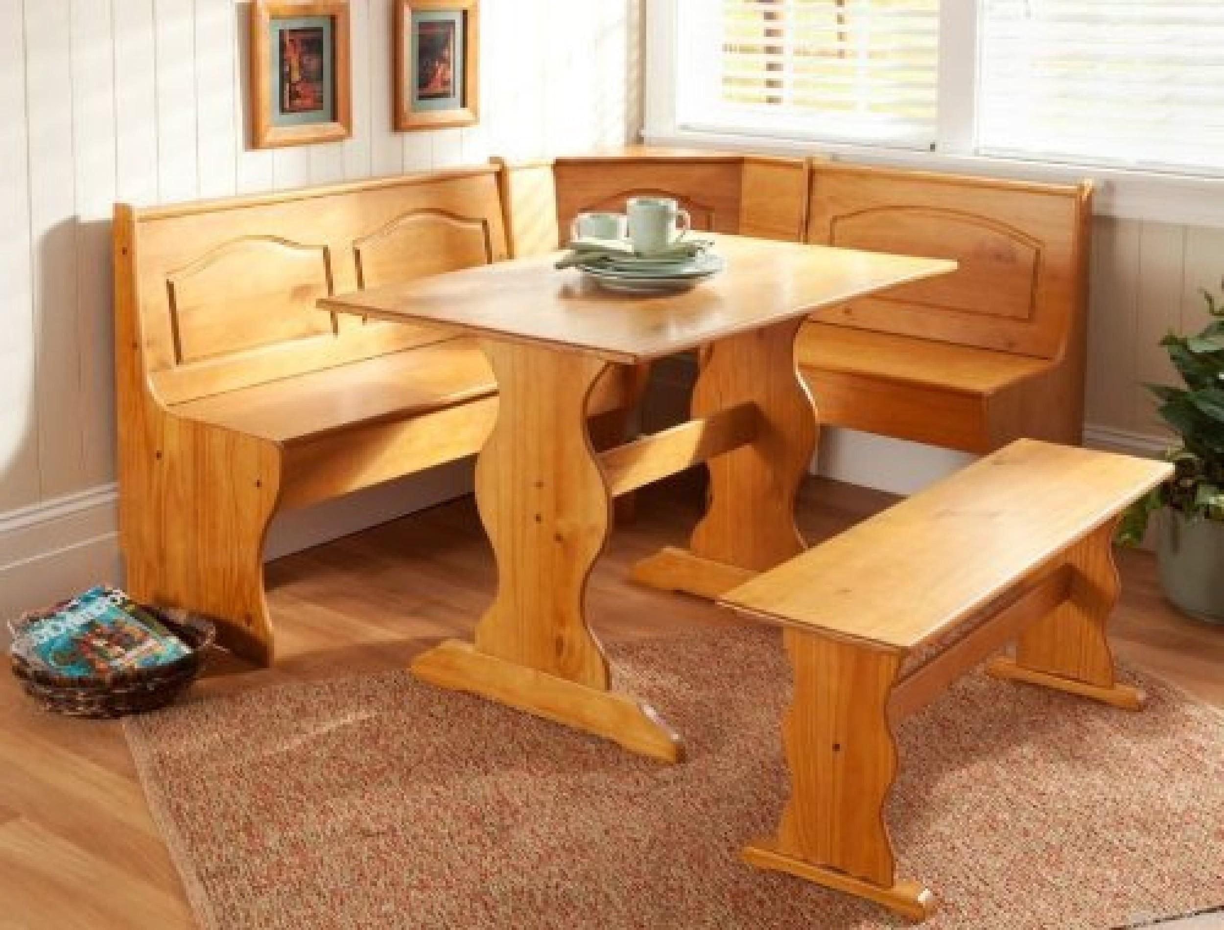 Breakfast Nook Dining Set Country Kitchen Table Booth