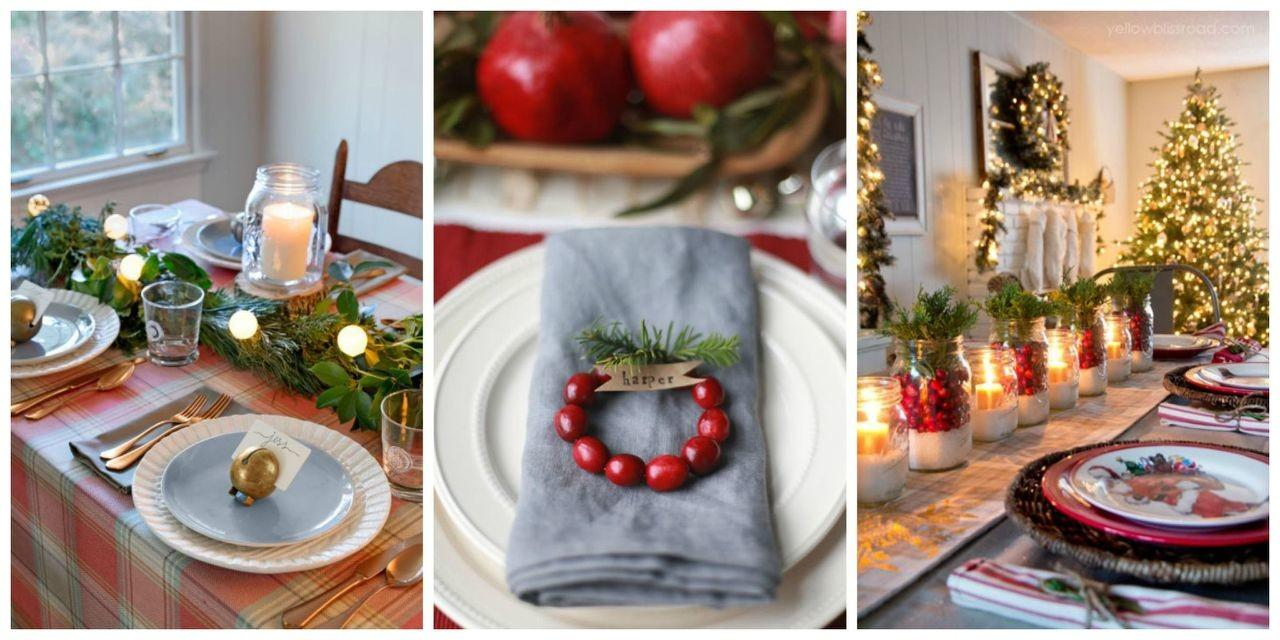 Breathtaking Christmas Table Settings Centerpieces