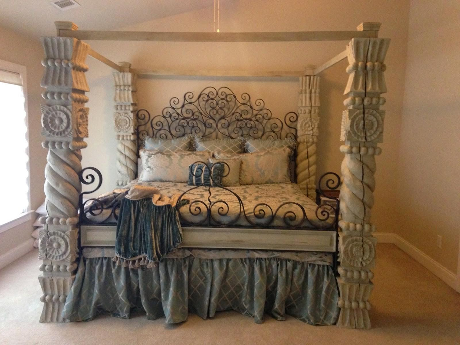 Brick Mortar Design Diy Chalk Painted Canopy Bed