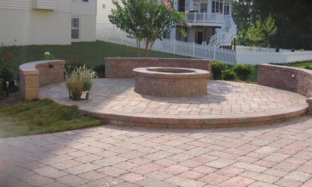 Brick Patio Ideas Fire Pit Landscaping Gardening