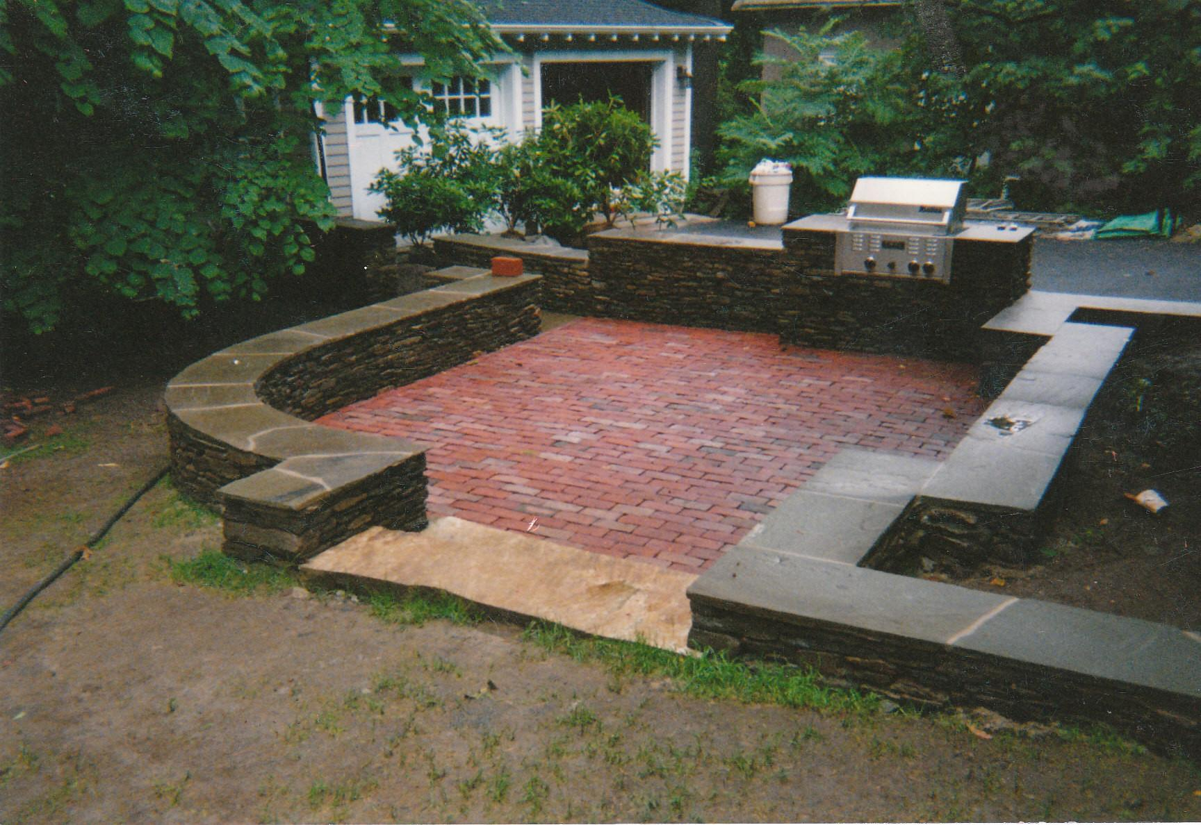 Brick Patio Wall Alan Shea Mason Contractor