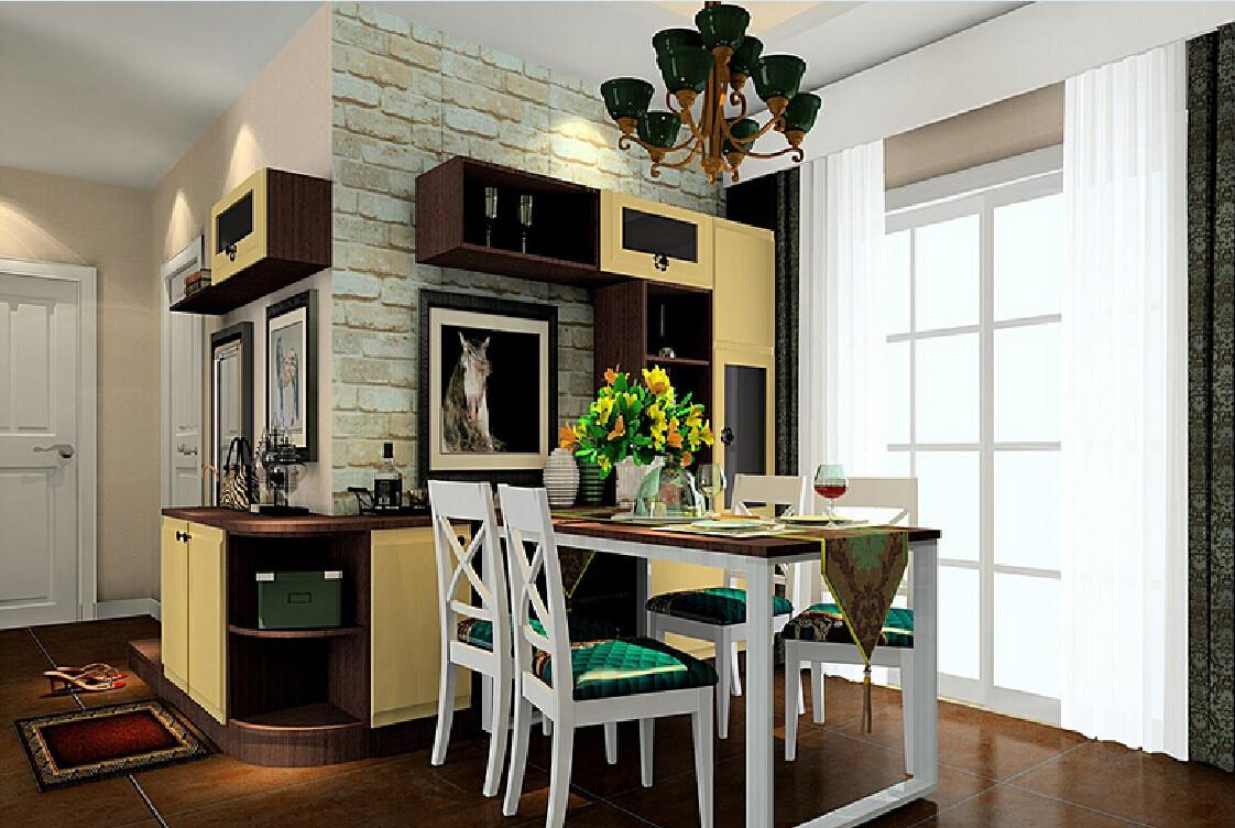 Brick Walls Decorated Dining Room House