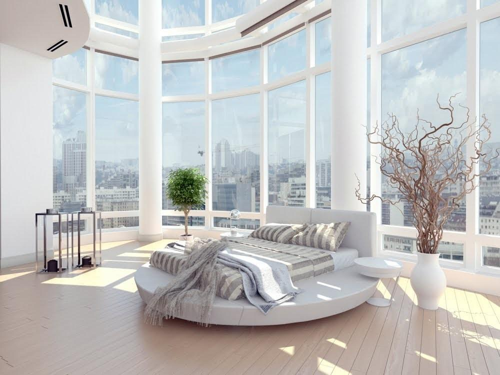Bright Airy White Bedroom Design Ideas