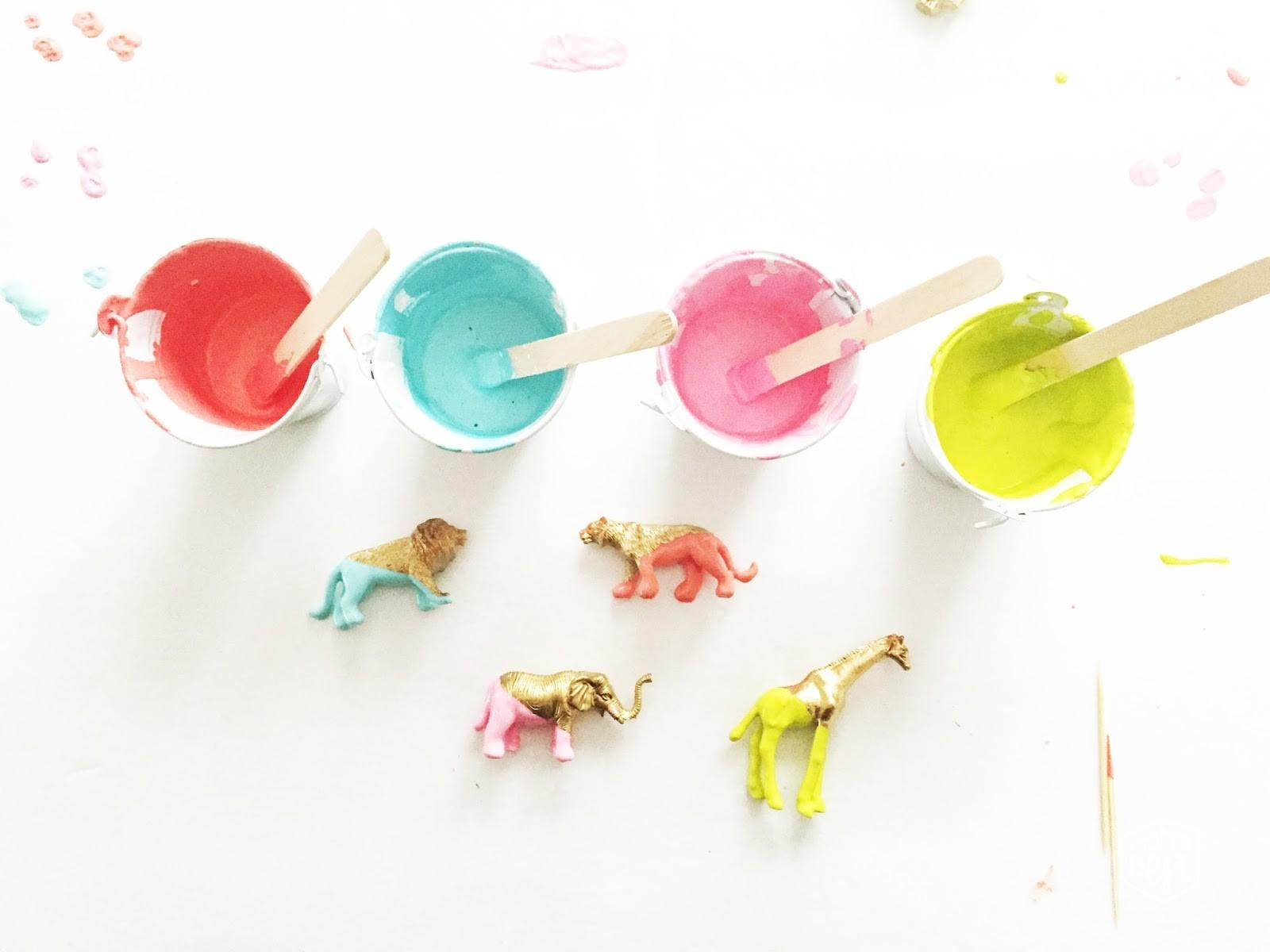 Bright Bold Diy Plastic Dip Dyed Animals