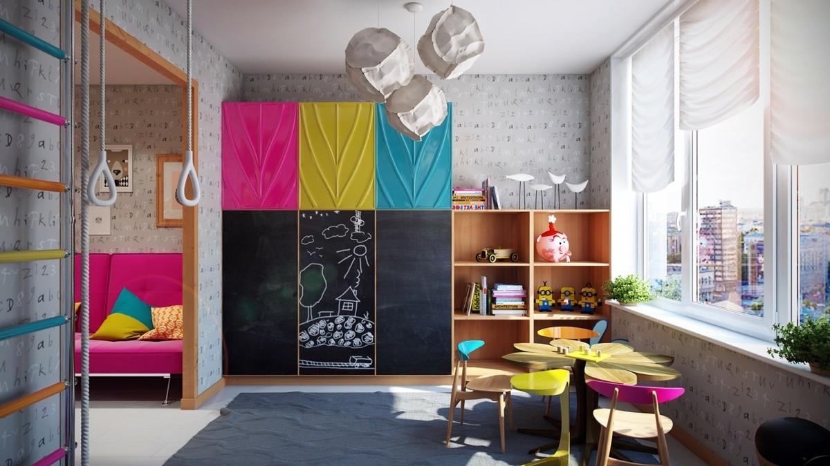 Bright Colorful Kids Room Designs Whimsical