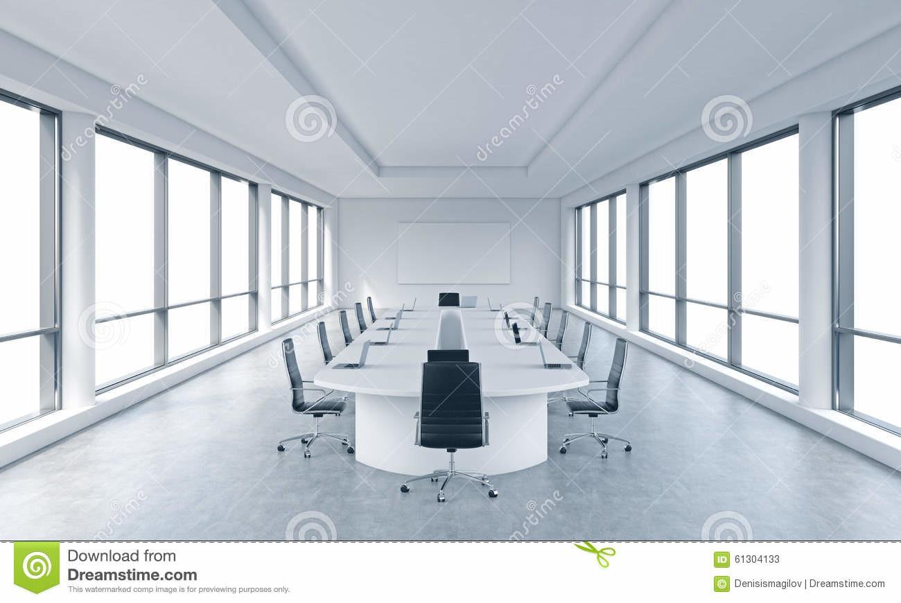 Bright Modern Panoramic Meeting Room Office
