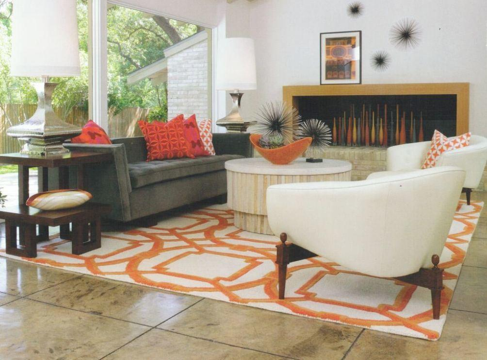 Bright Orange Area Rug Home Design