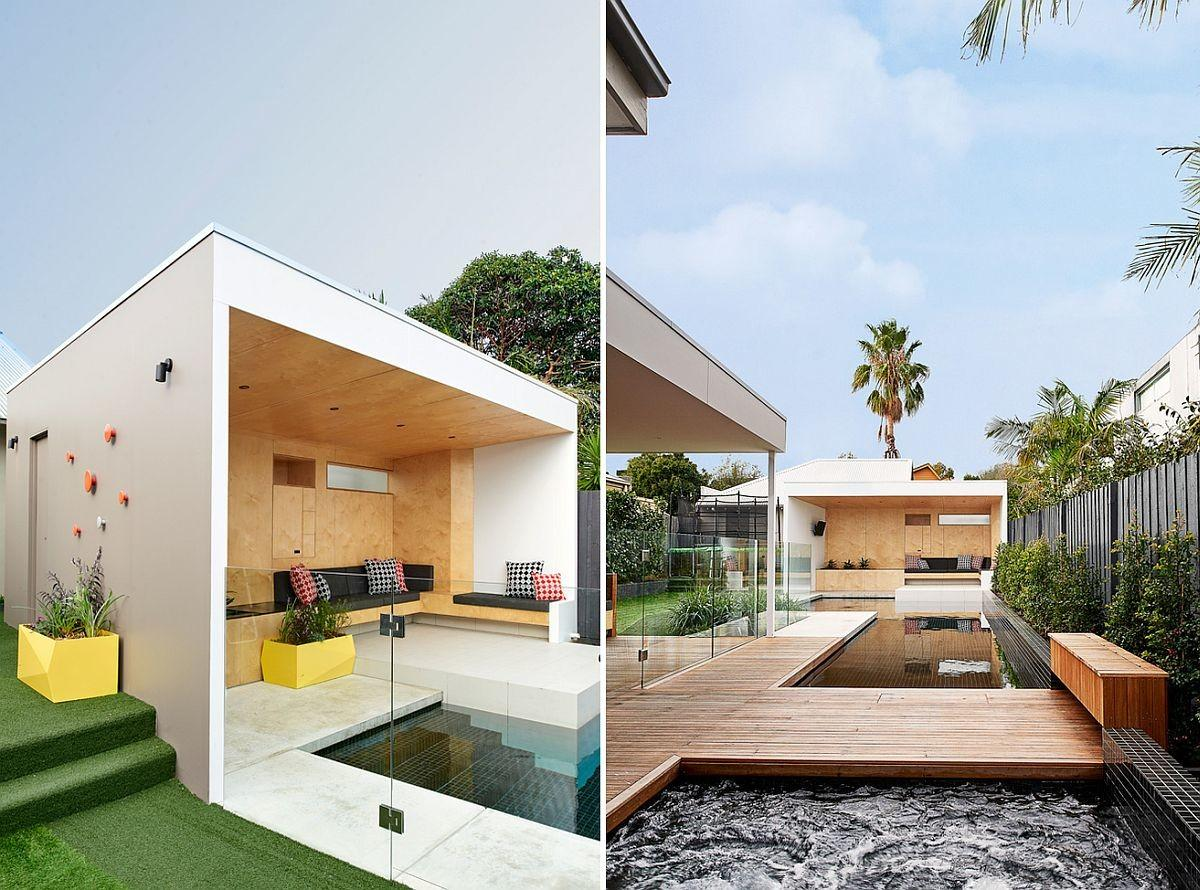 Brighton Bunker Plywood Clad Poolside Hangout Does