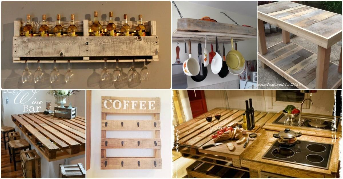 Brilliantly Rustic Diy Pallet Kitchen Furniture Ideas