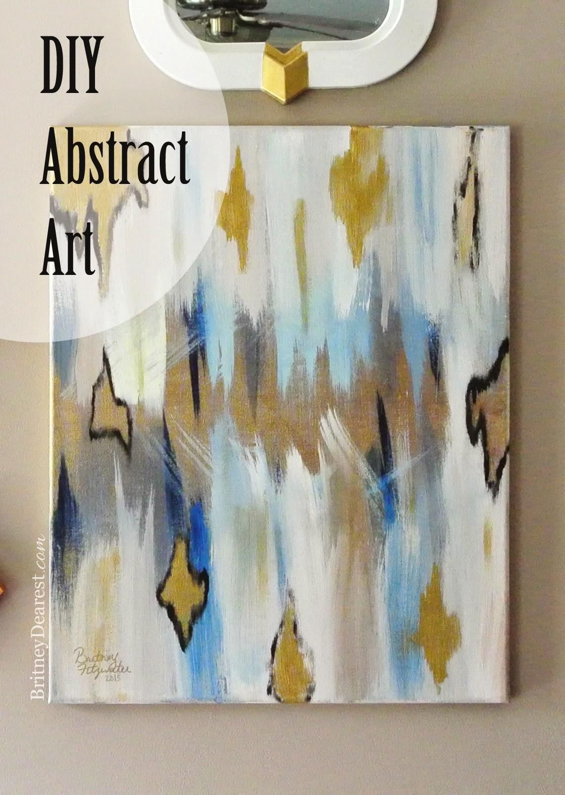 Britney Dearest Easy Diy Abstract Painting
