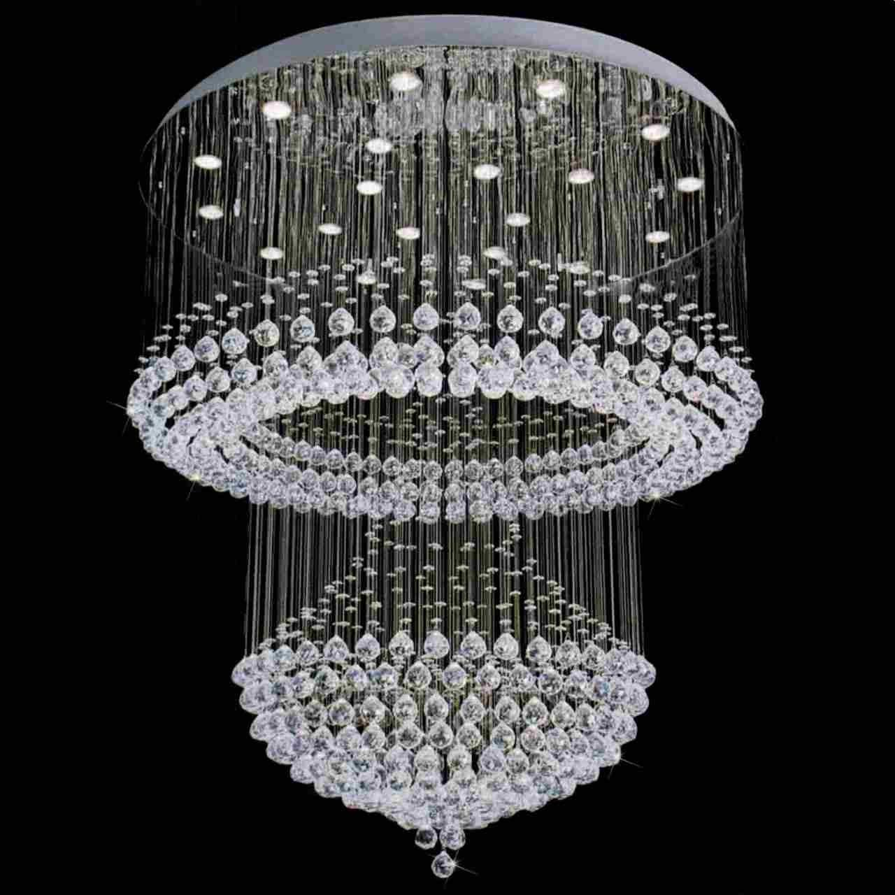 Brizzo Lighting Stores Chateaux Modern Foyer Crystal