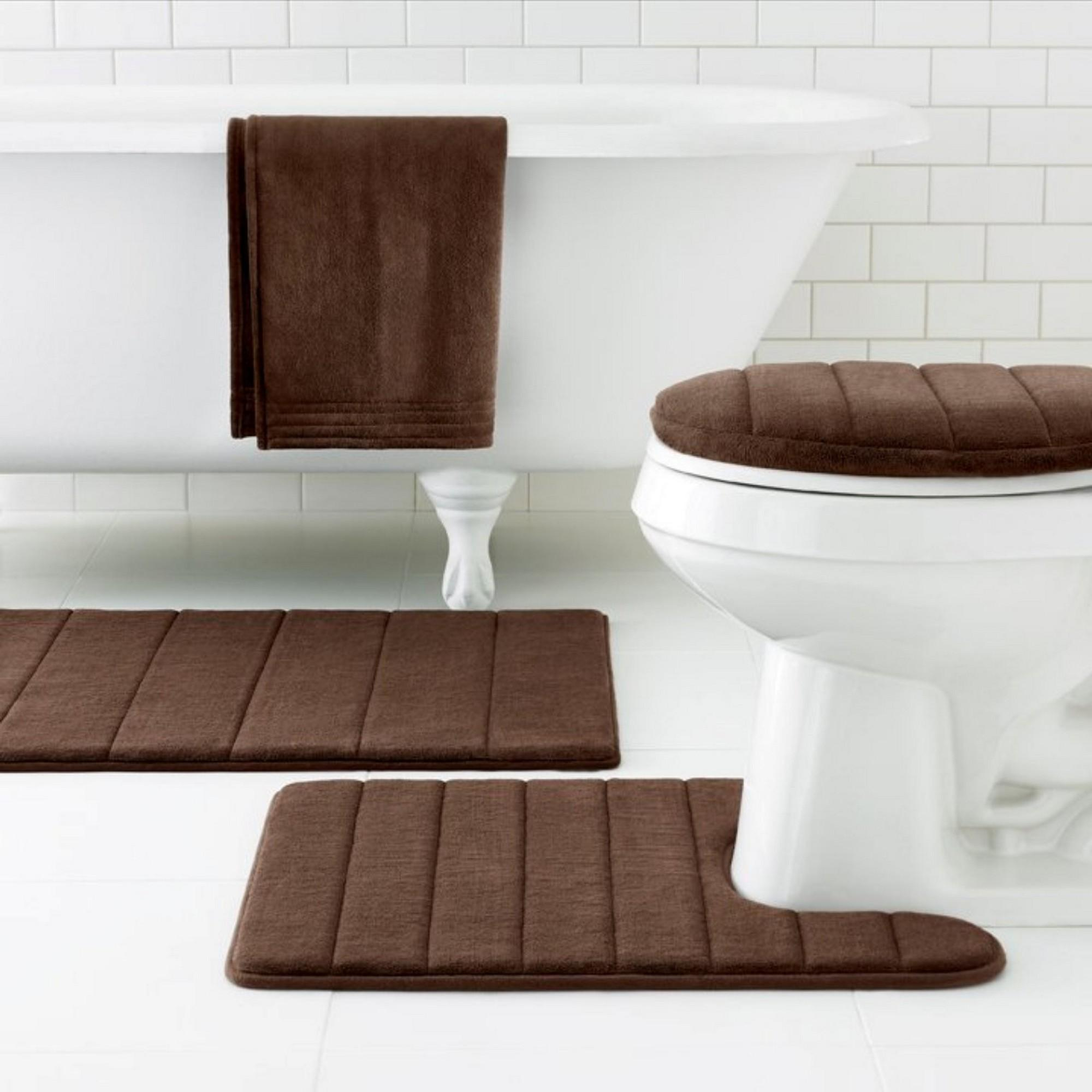 Brown Bath Rugs Ideas Contemporary Bathroom Design