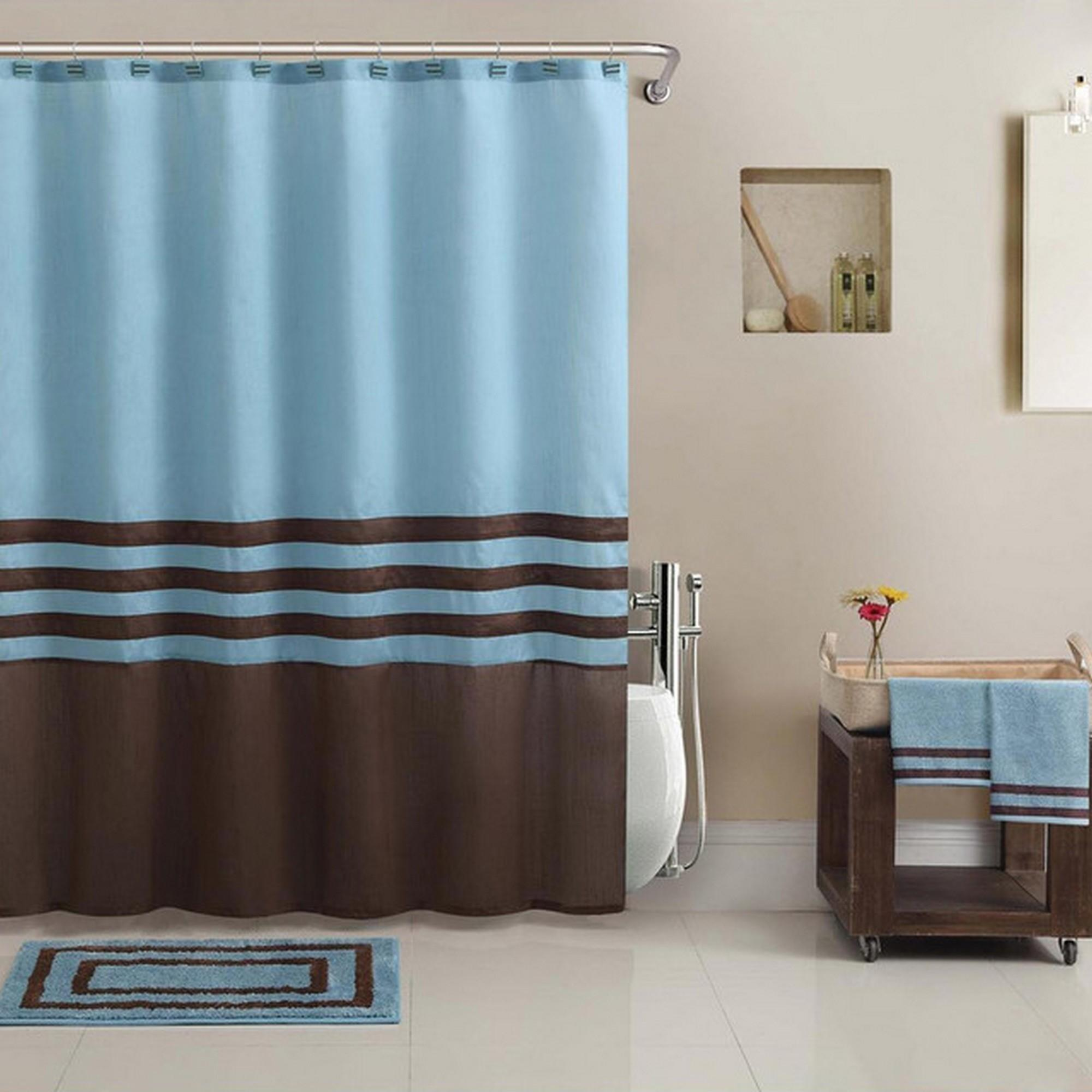 Brown Blue Bathroom Rugs Pkgny