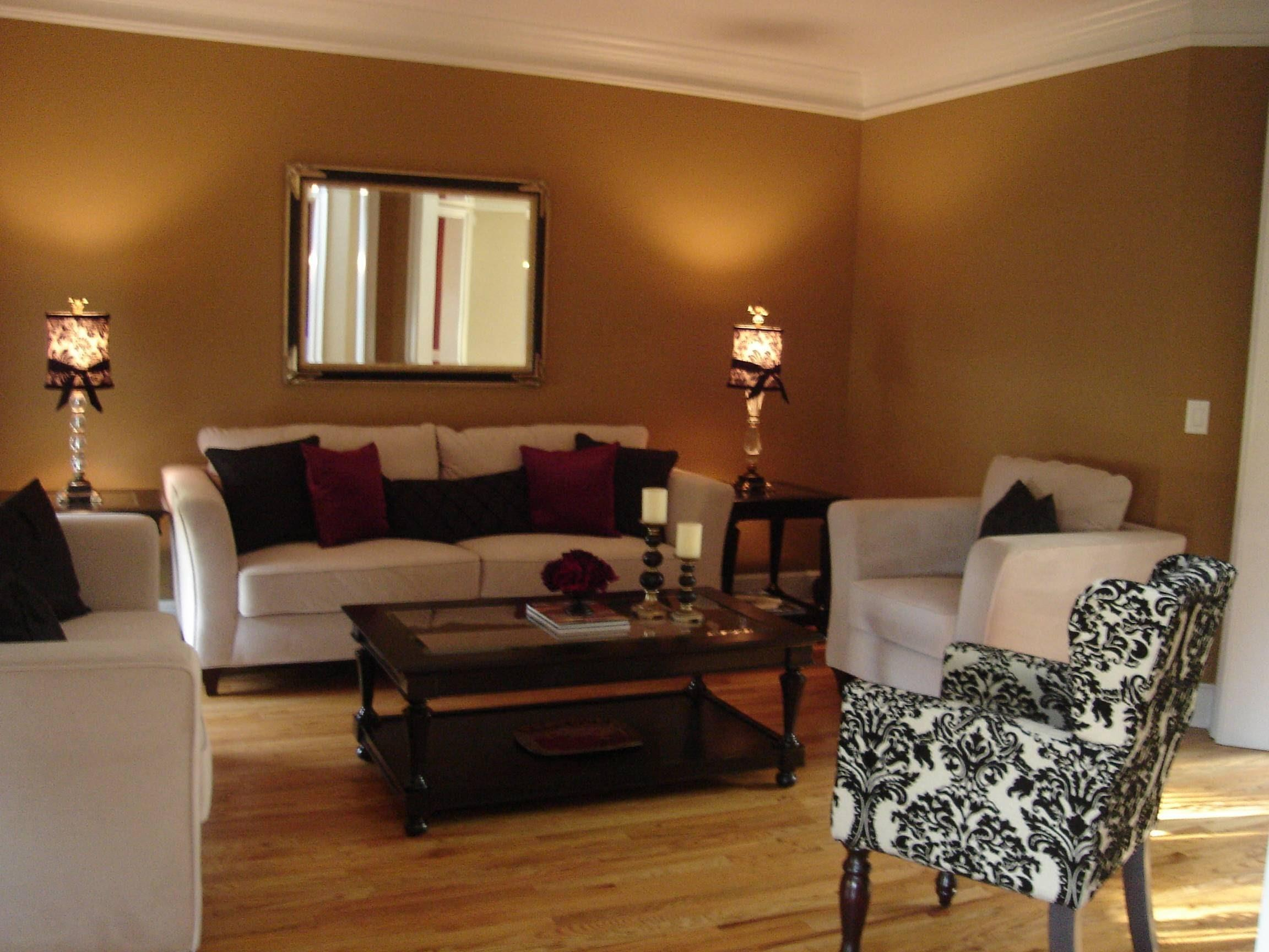 Brown Gold Living Room Accessories