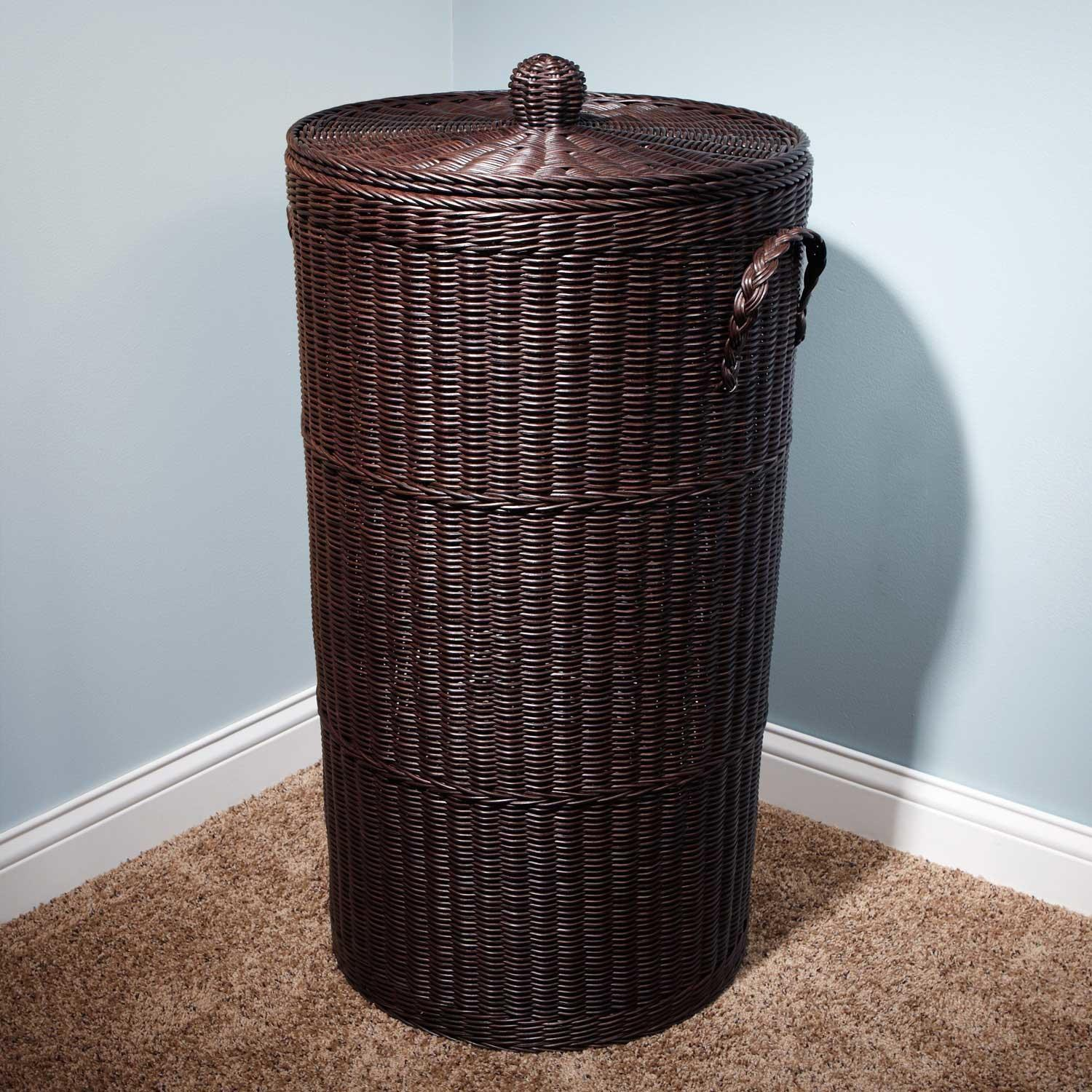 Brown Modern Laundry Hamper Sierra Make