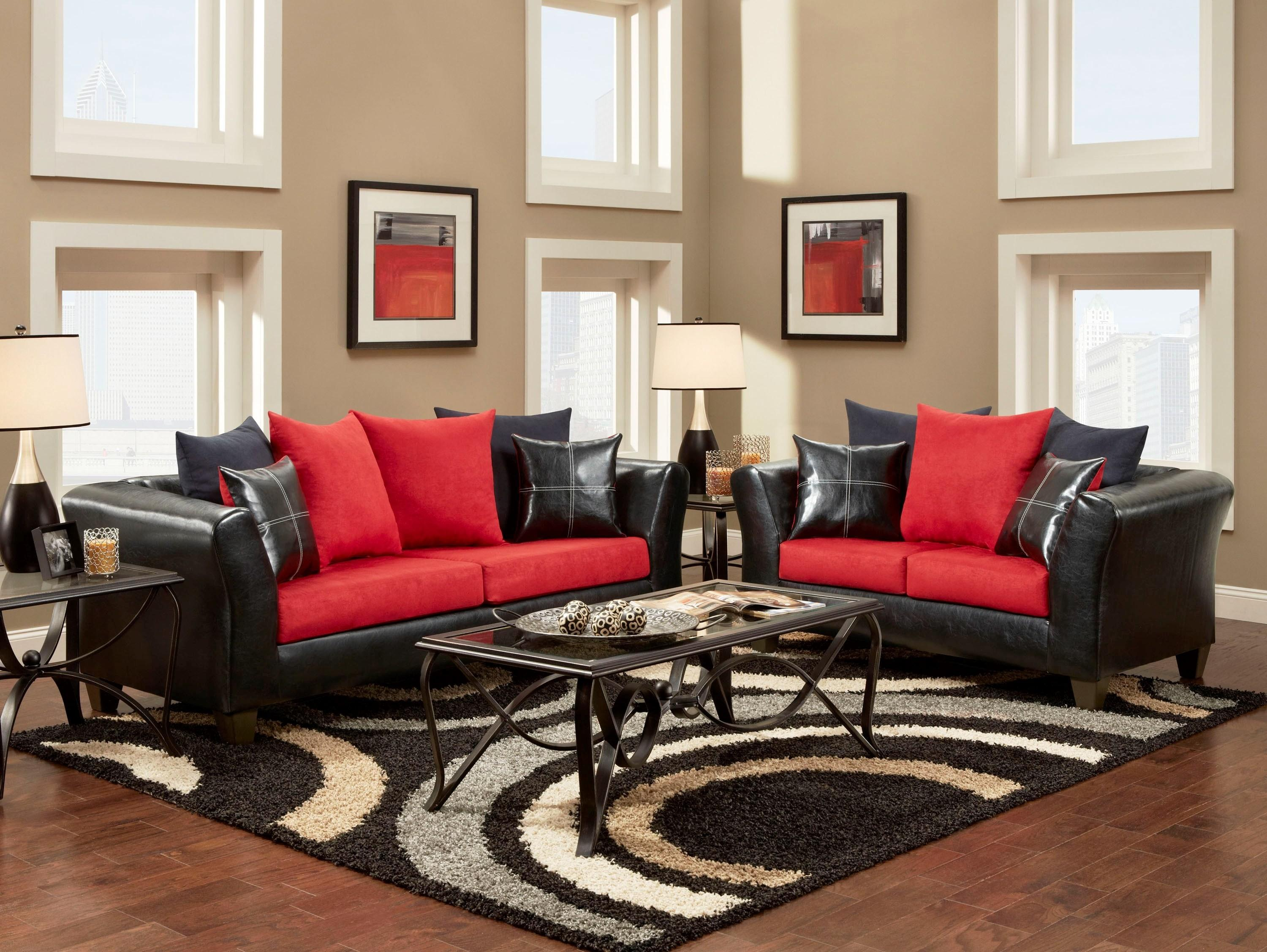Brown Red Living Room Ideas