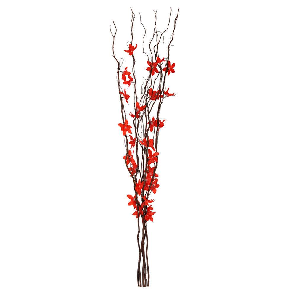 Brown Twigs Red Flowers Fairy Lights Branch Twig