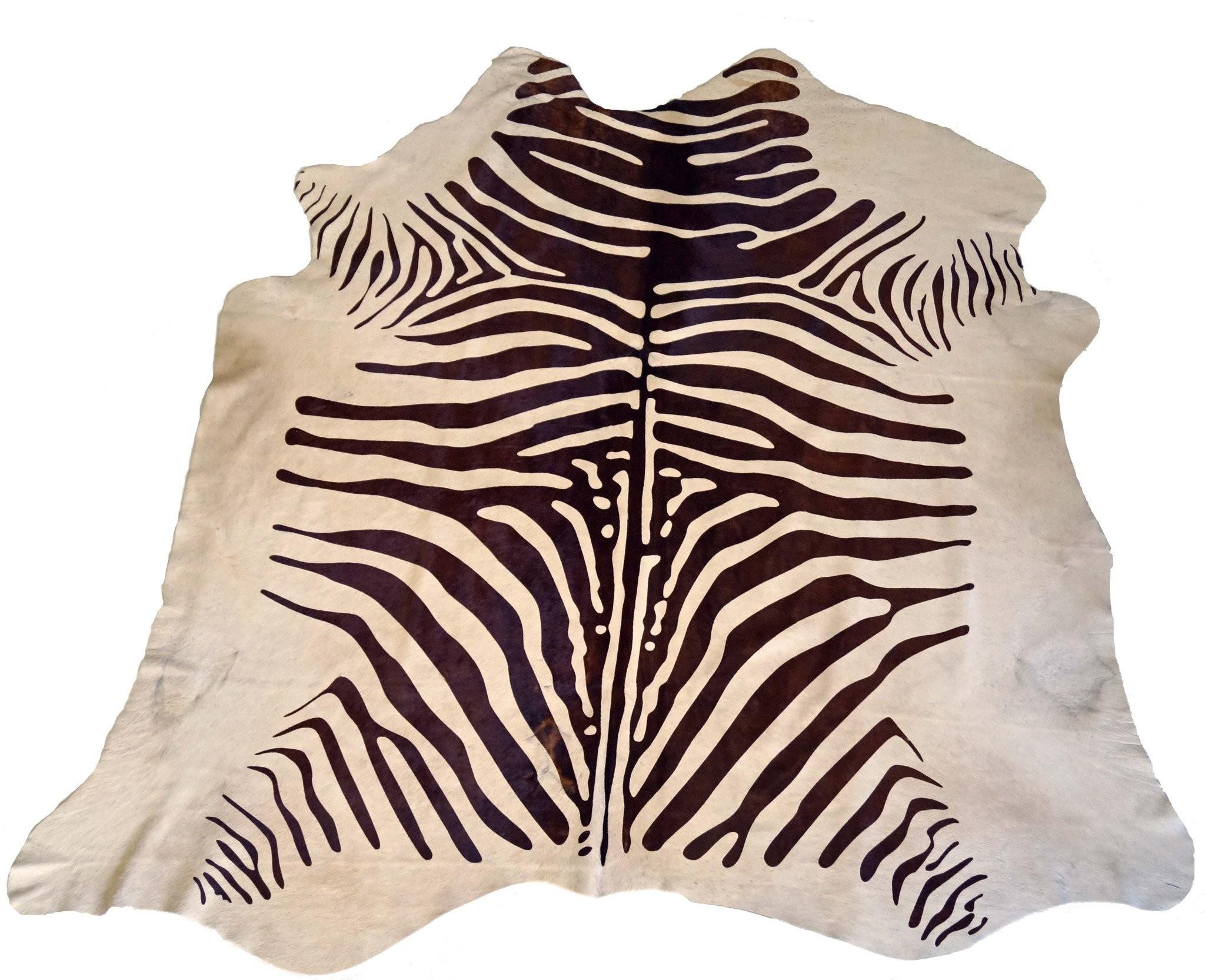 Brown White Zebra Cowhide Rug Design Hides