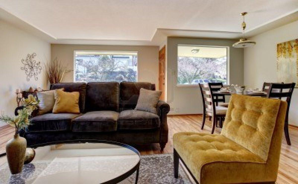 Brown Yellow Living Room Ideas House Design Plans