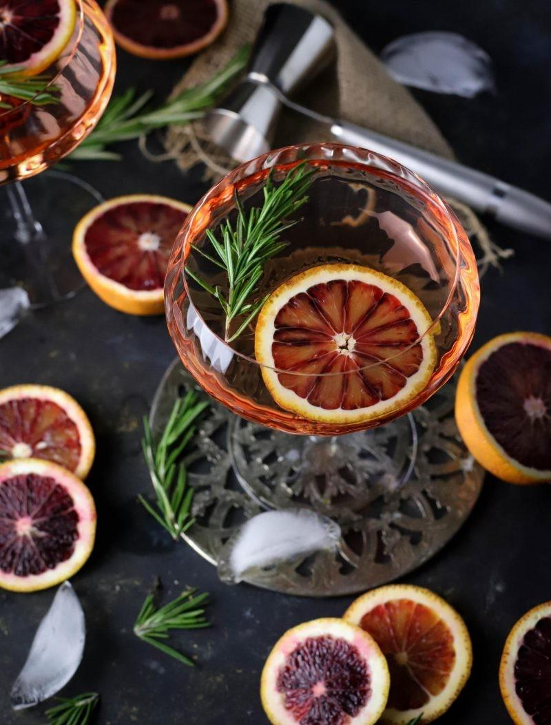 Brunch Style Blood Orange Rosemary Cocktails Cooks