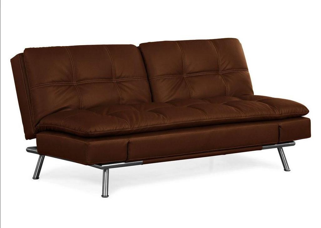 Bruno Black Leather Convertible Sofa Bed Beds