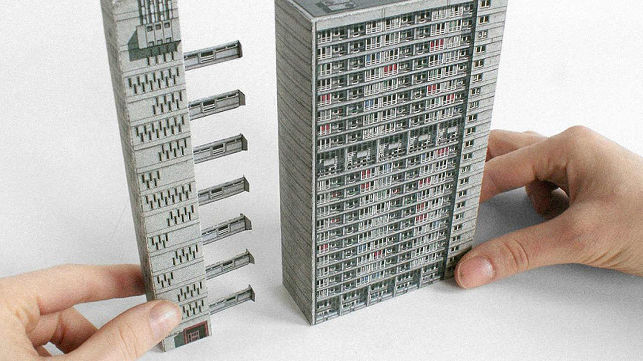 Brutalist Buildings Turned Into Papercraft Models