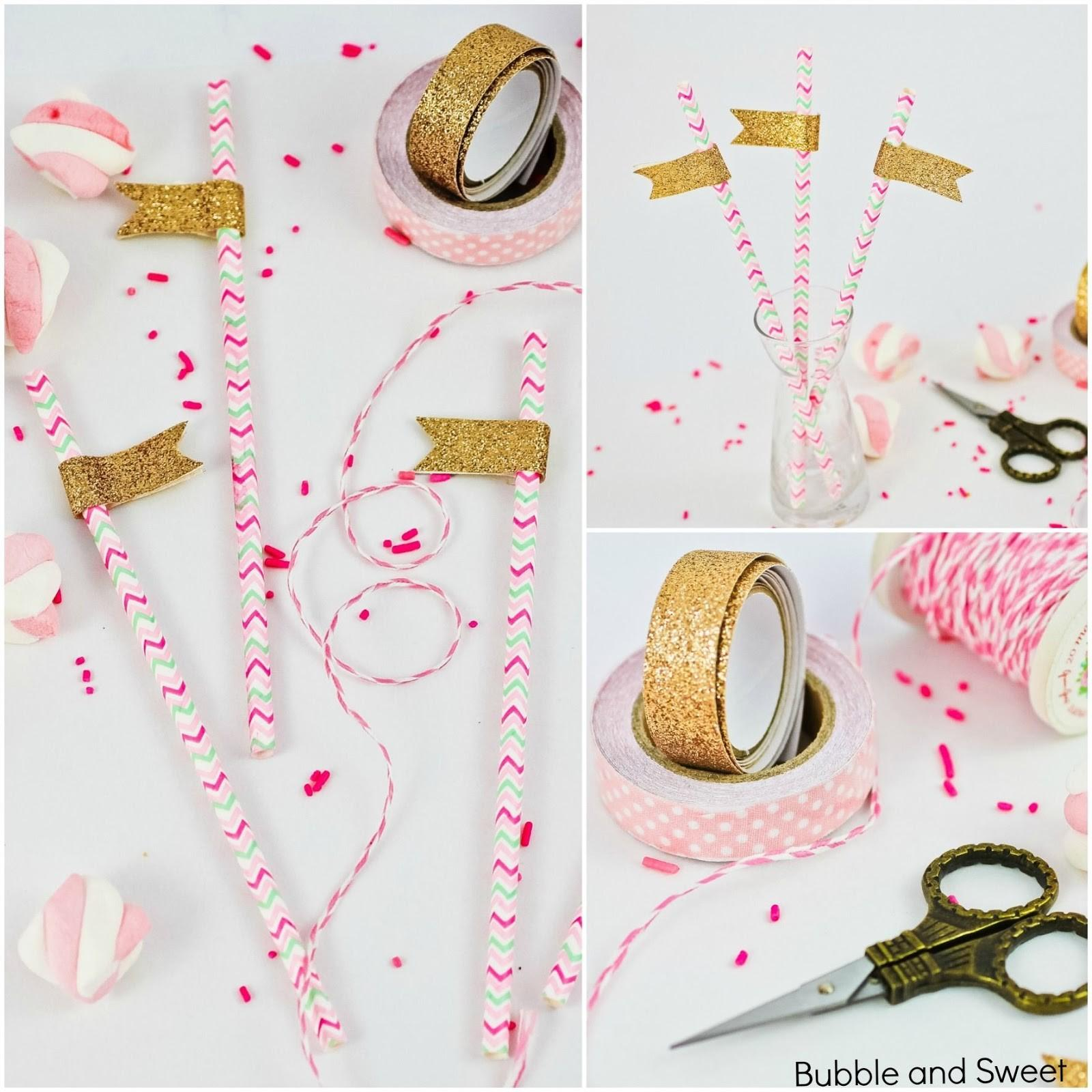 Bubble Sweet All Glitters Party Straws Diy