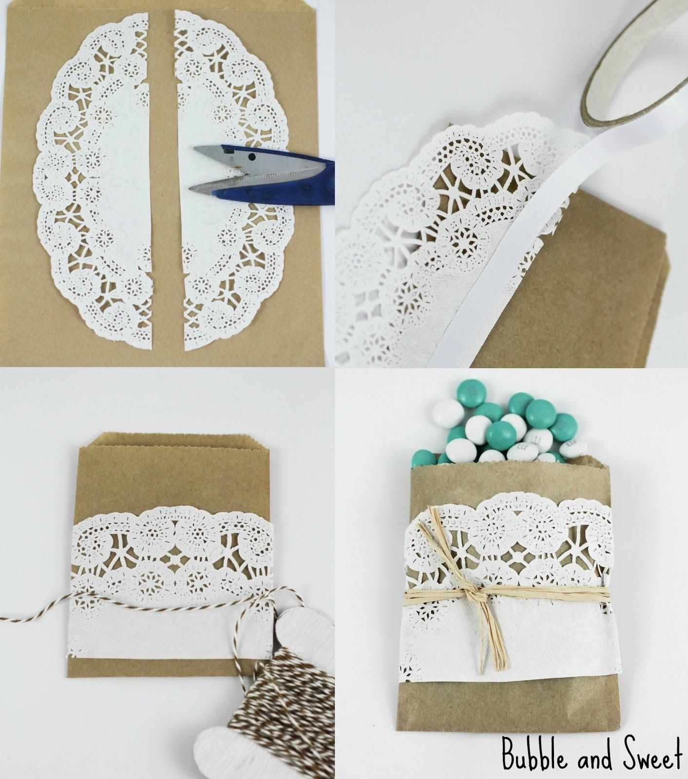 Bubble Sweet Diy Mini Brown Paper Doily Snack Bags