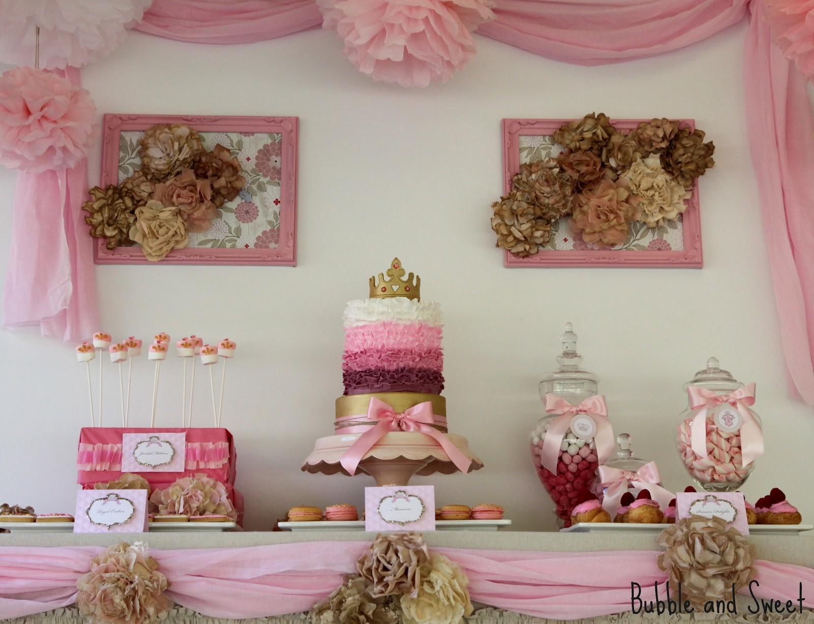 Bubble Sweet Pink Shabby Chic Princess Party