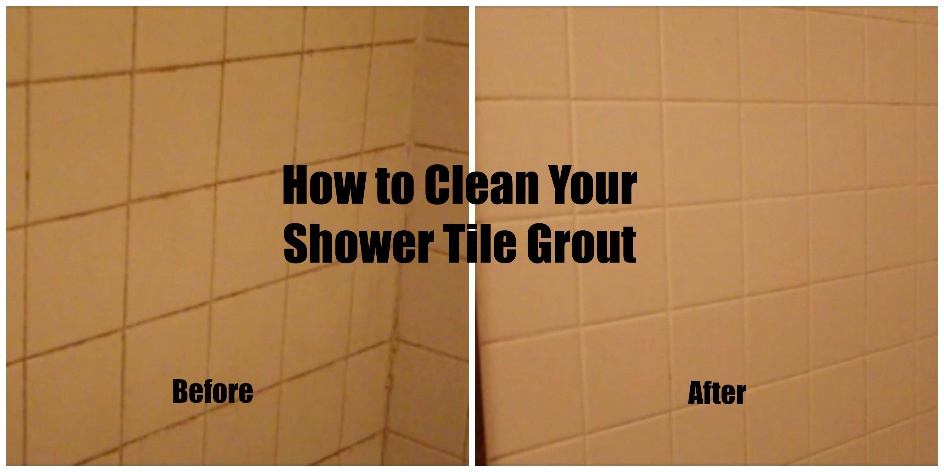 Budget Spring Cleaning Diy Clean Your Shower Tile