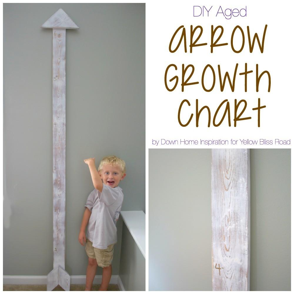 Build Aged Diy Arrow Growth Chart Yellow Bliss Road