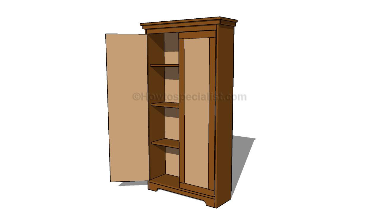 Build Armoire Closet Houses Plans Designs