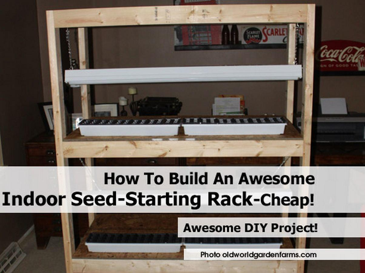 Build Awesome Indoor Seed Starting Rack Cheap