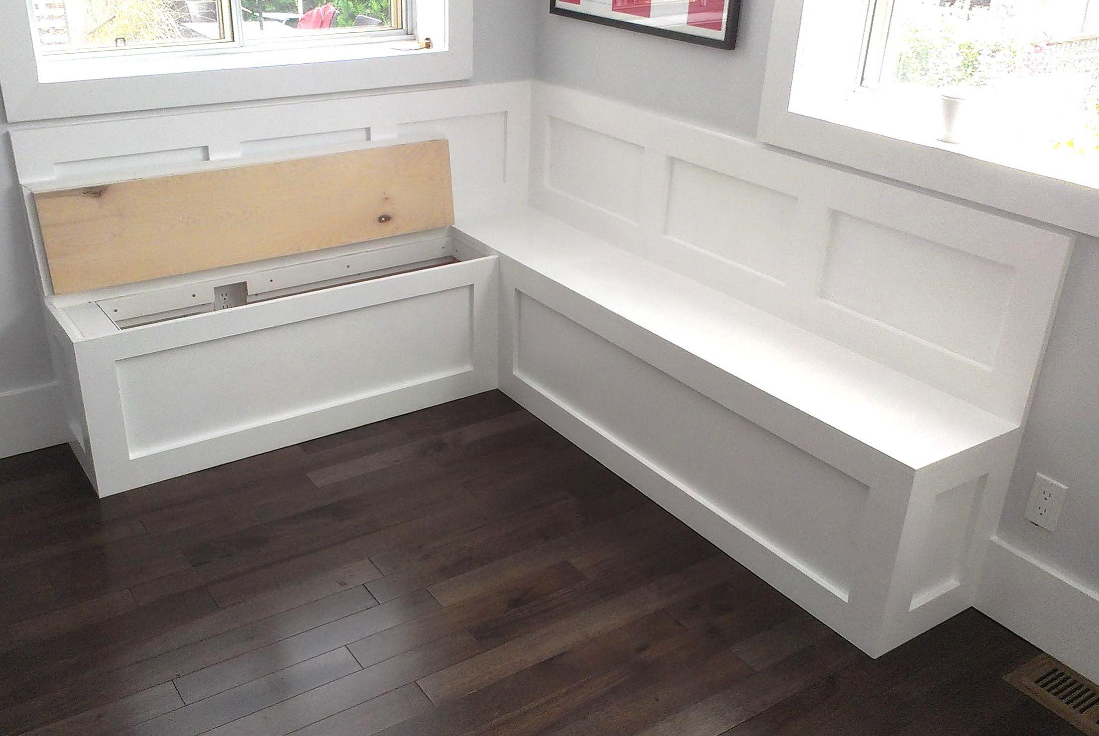 Build Banquette Storage Bench Clayton Design