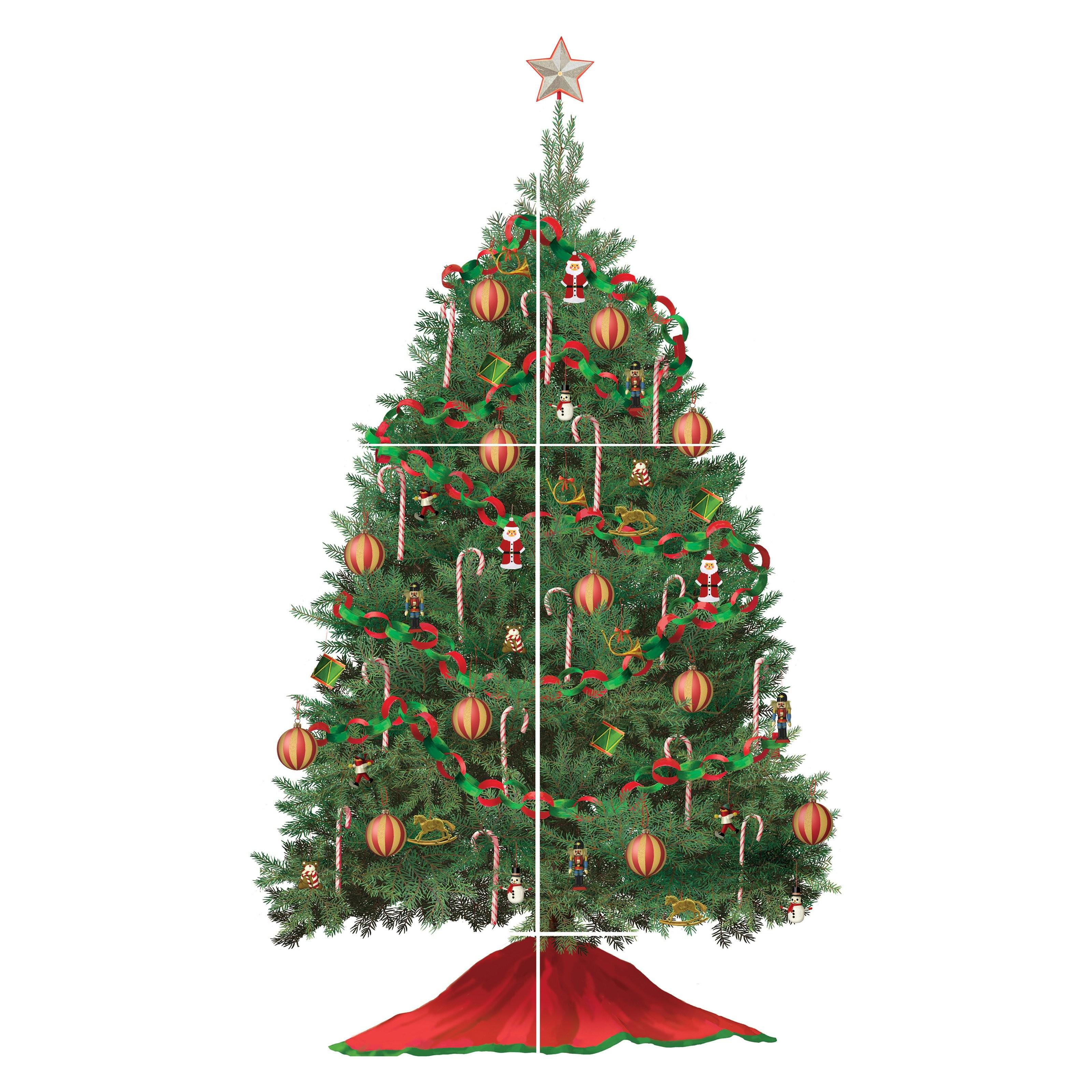 Build Christmas Tree Peel Stick Giant Wall Decals