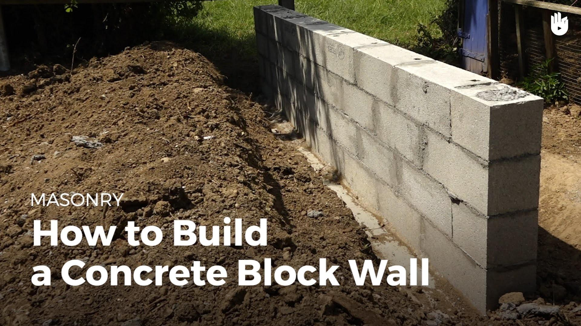 Build Concrete Wall Household Diy Projects Sikana