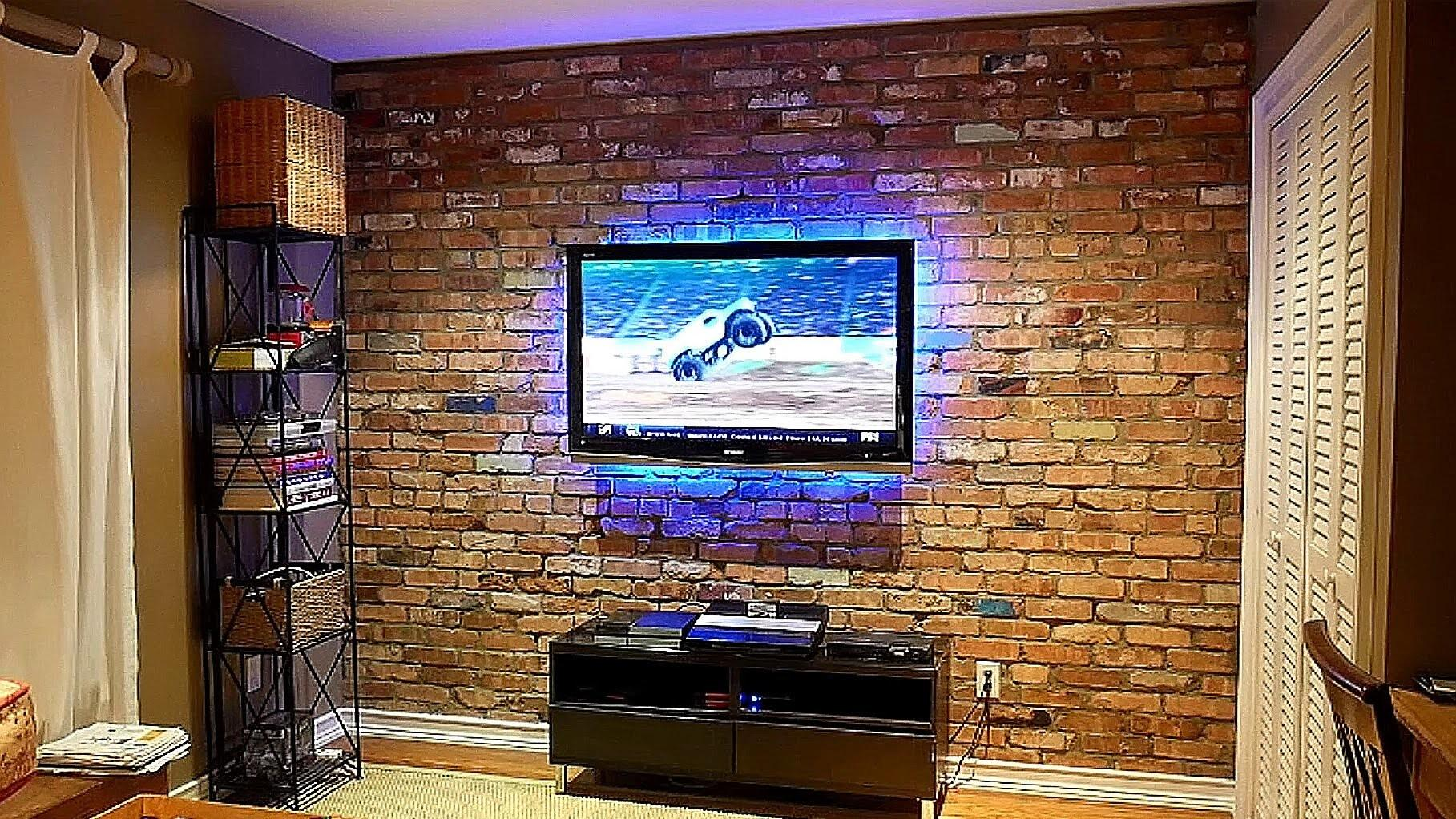 Build Exposed Brick Veneer Interior Wall