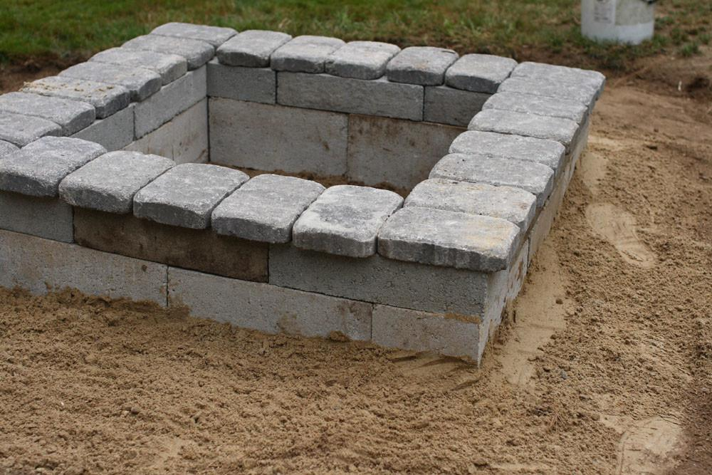 Build Outdoor Fire Pit Stone Home Improvement