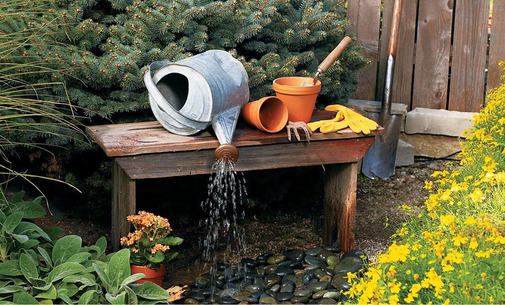 Build Outdoor Water Feature Home Style