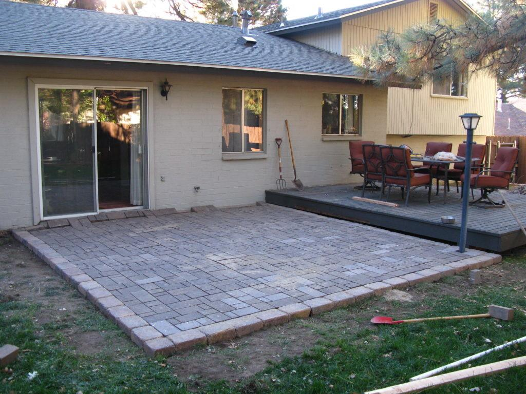 Build Paver Patio Modern Outdoor