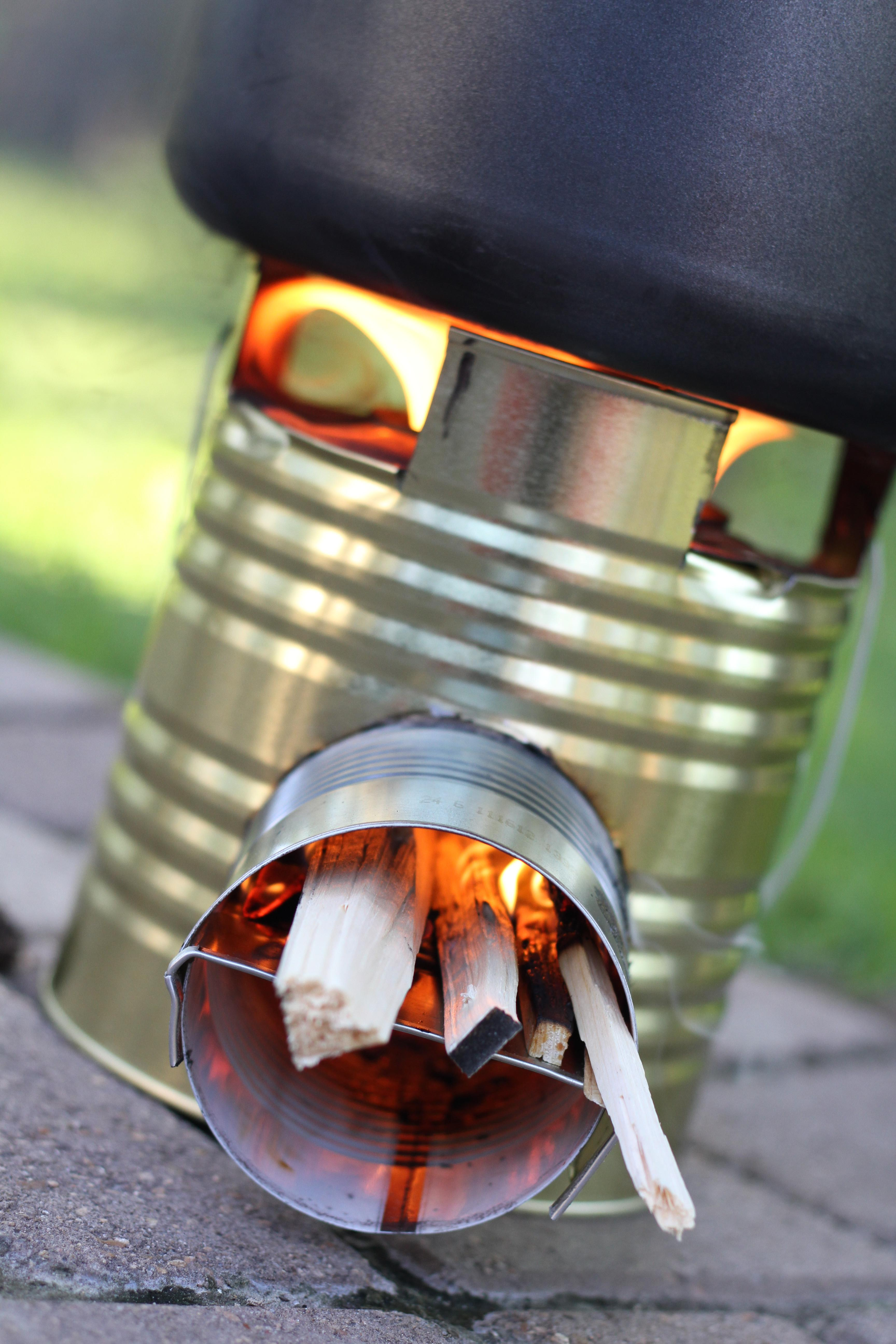 Build Rocket Stove Impress Boys Survival