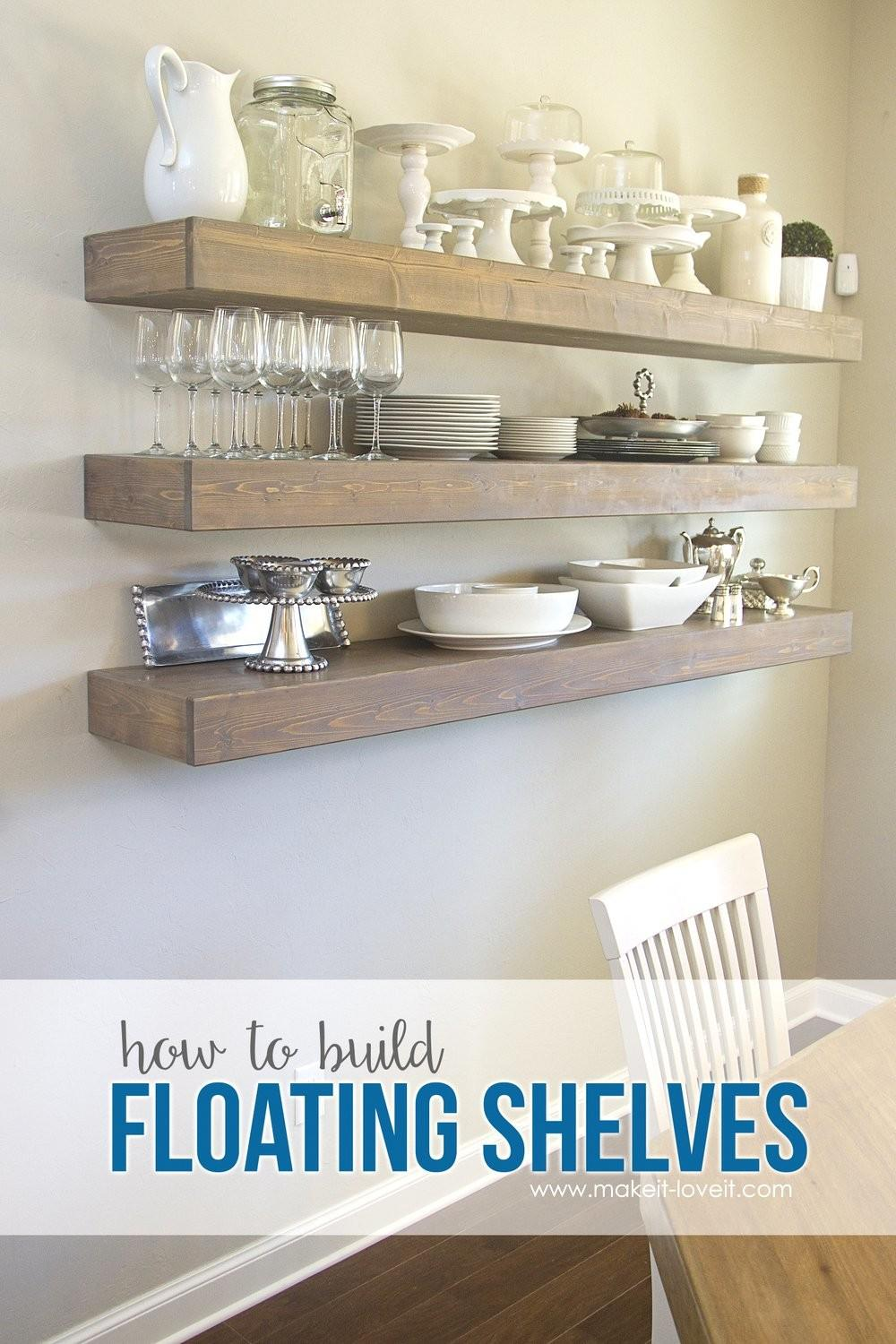 Build Simple Floating Shelves Any Room
