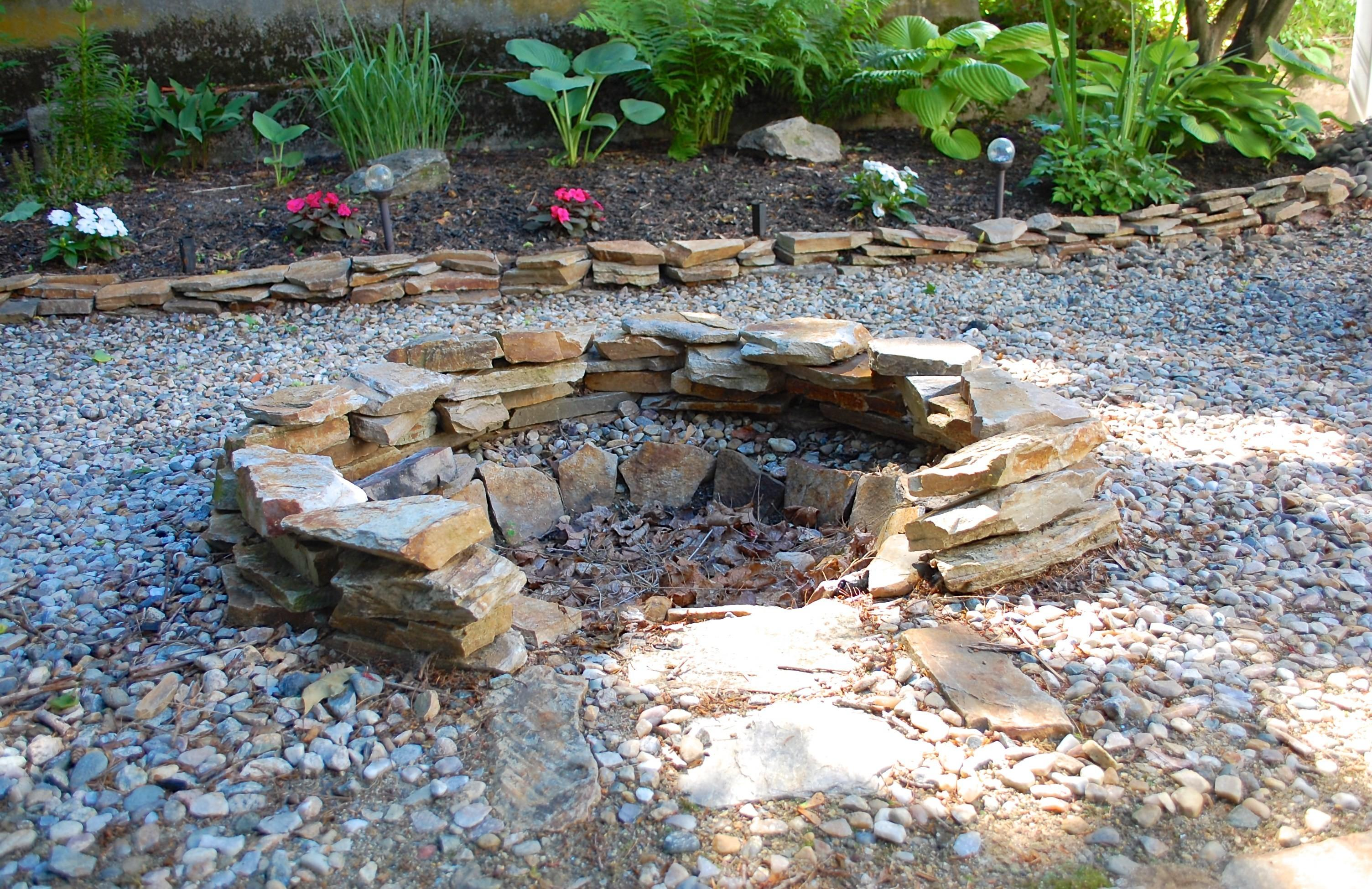 Build Stone Fire Pit One Afternoon Cheap