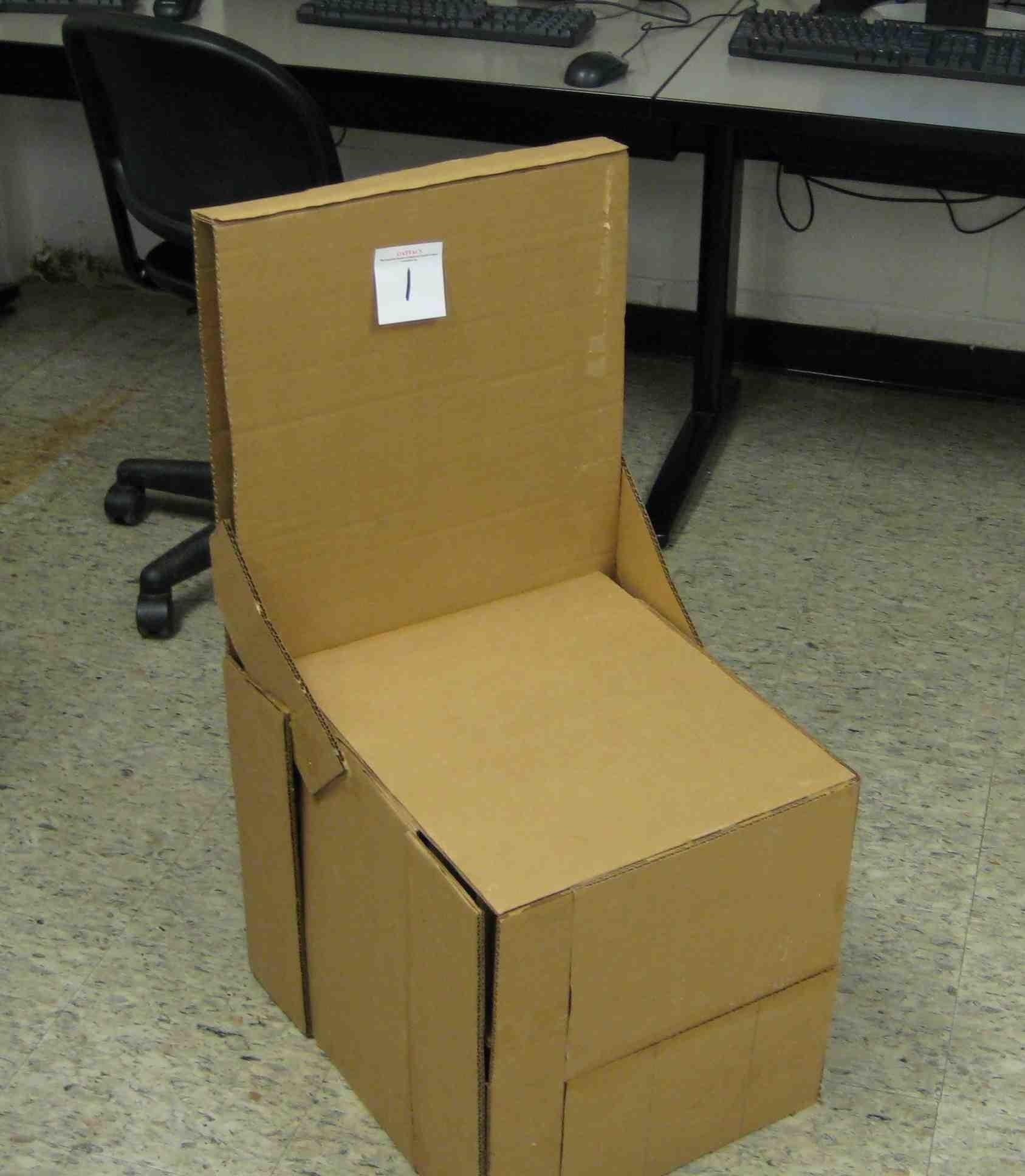 Build Stool Out Cardboard Plans