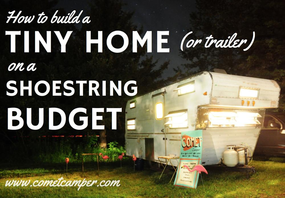 Build Tiny House Trailer Shoestring