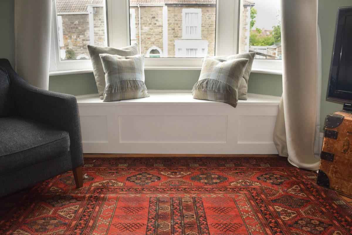 Build Victorian Bay Window Seat Storage