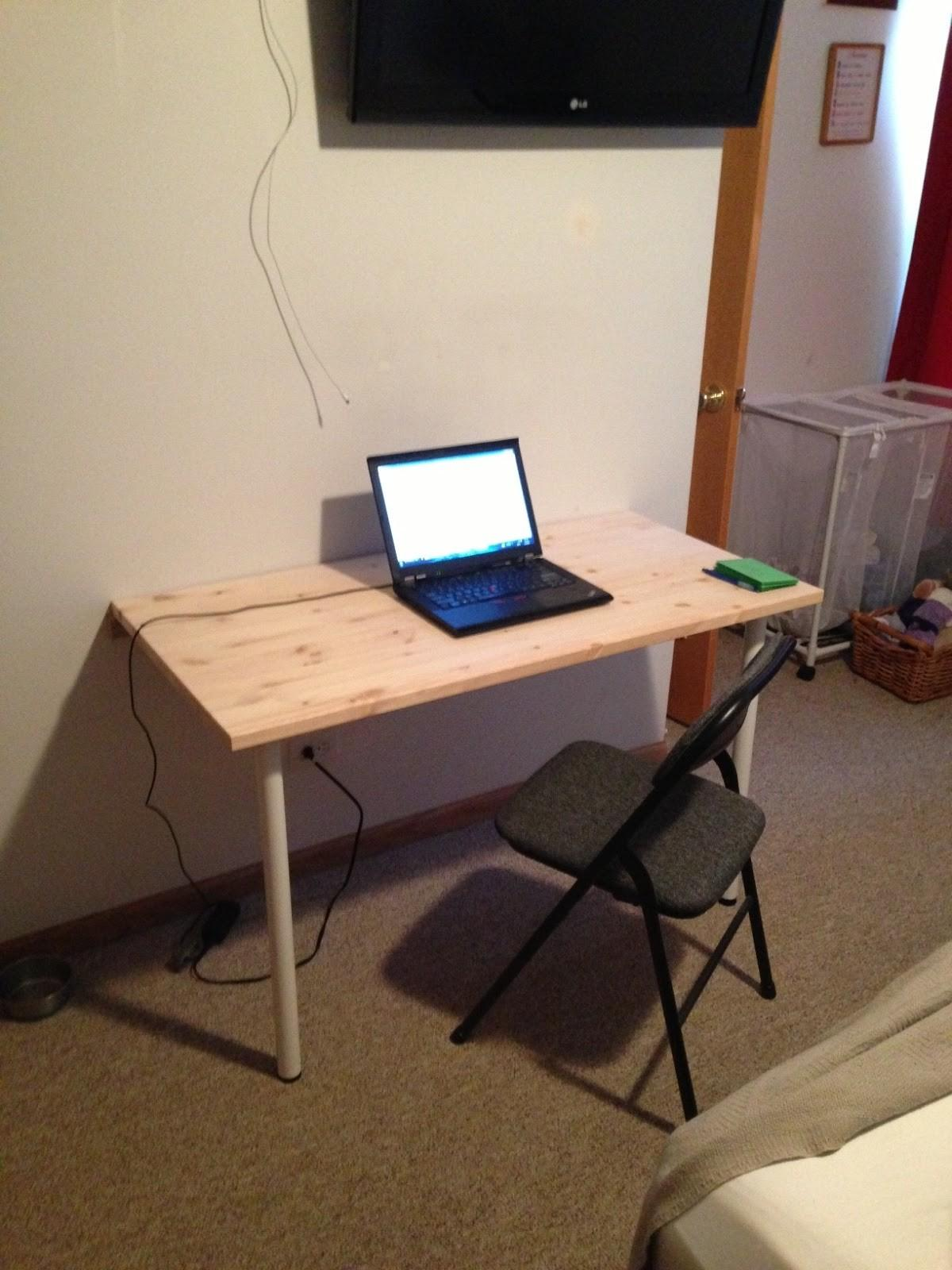 Build Wall Mounted Fold Down Desk Table